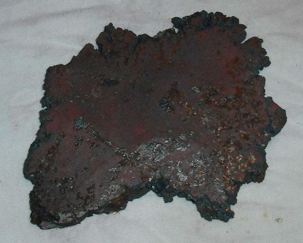 Кусок закаленной стали